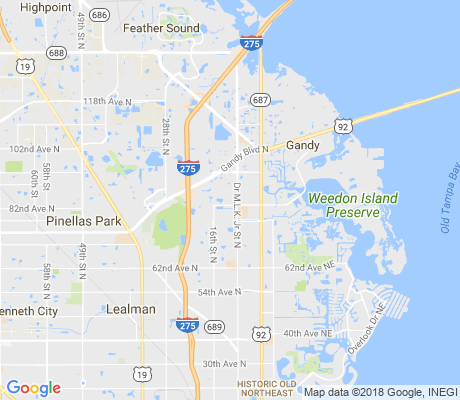 map of Jamestown apartments for rent