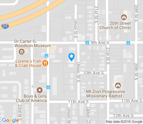 map of Melrose - Mercy apartments for rent