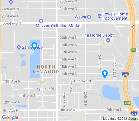 map of North Kenwood apartments for rent