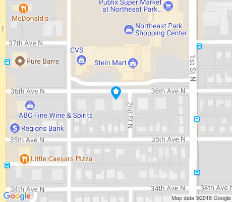 map of Old Northeast apartments for rent