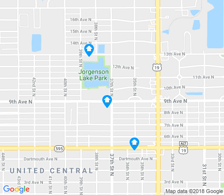 map of United Central apartments for rent