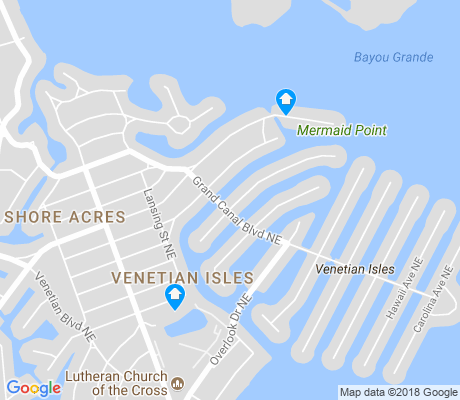 map of Venetian Isles apartments for rent