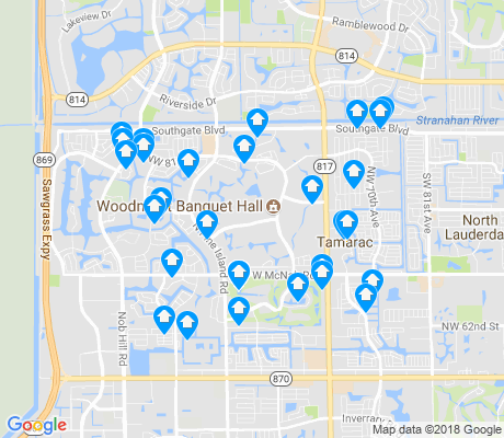 map of Tamarac apartments for rent
