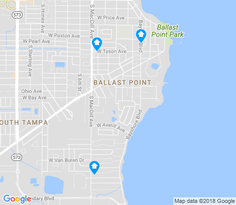 map of Ballast Point apartments for rent