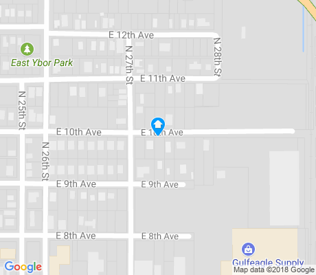 map of East Ybor apartments for rent
