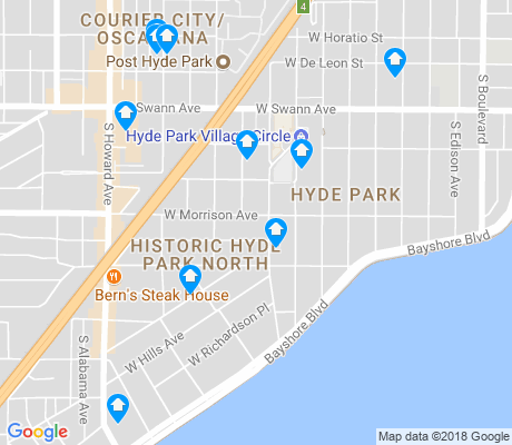 map of Historic Hyde Park North apartments for rent