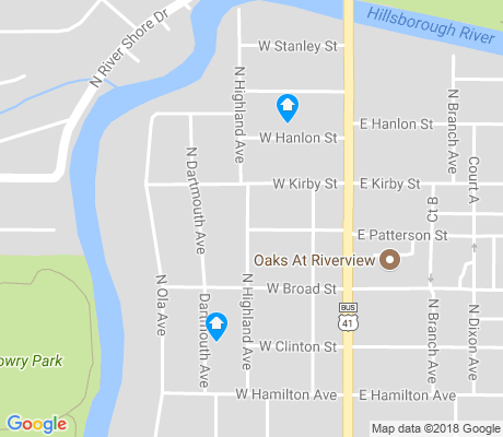 map of Lowry Park Central apartments for rent