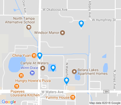 map of Lowry Park North apartments for rent