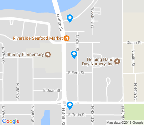 map of Northeast Tampa apartments for rent