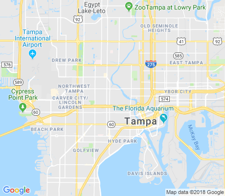 map of Old West Tampa apartments for rent