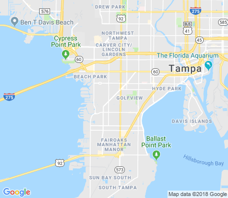 map of Palma Ceia West apartments for rent