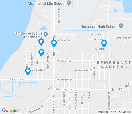 map of Port Tampa City apartments for rent
