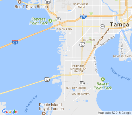 map of South Westshore apartments for rent