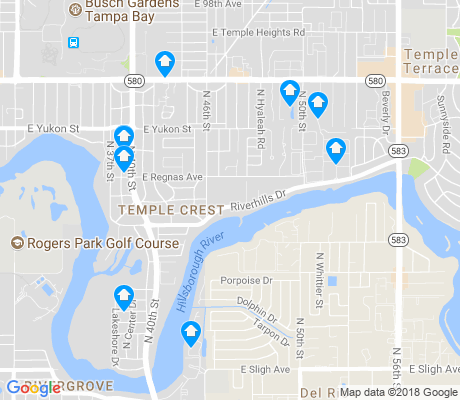 map of Temple Crest apartments for rent