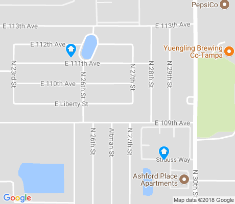 map of University Square apartments for rent