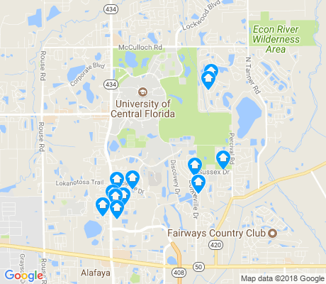 map of University - Central apartments for rent