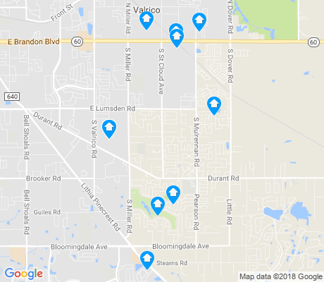 map of Valrico apartments for rent
