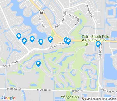 map of Palm Beach Polo and Country Club apartments for rent