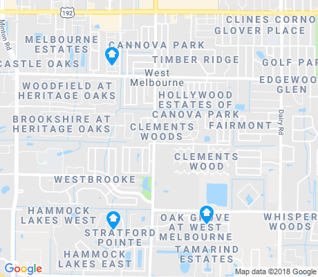 map of West Melbourne apartments for rent