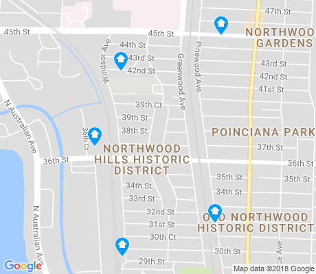 map of Northwood Hills apartments for rent
