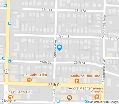 map of Old Northwood Historic District apartments for rent