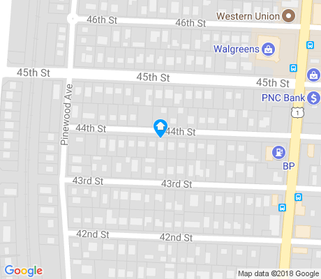 map of Pinewood Park apartments for rent