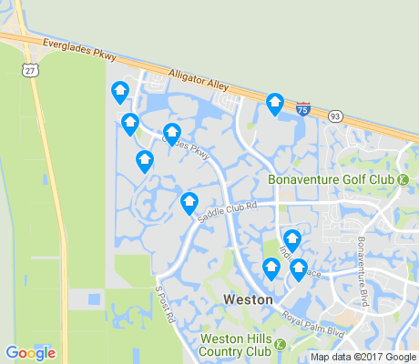 map of Weston apartments for rent