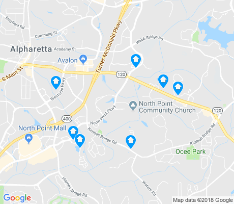 map of Alpharetta apartments for rent
