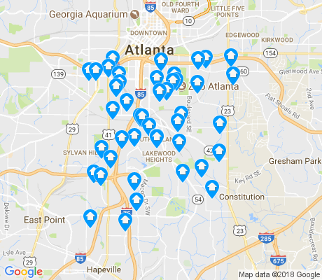 map of 30315 apartments for rent