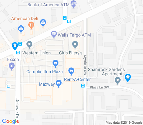 map of Adams Park apartments for rent
