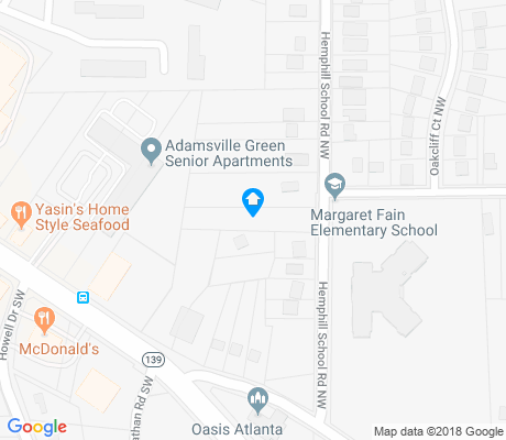 map of Adamsville apartments for rent