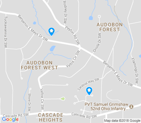 map of Audobon Forest apartments for rent
