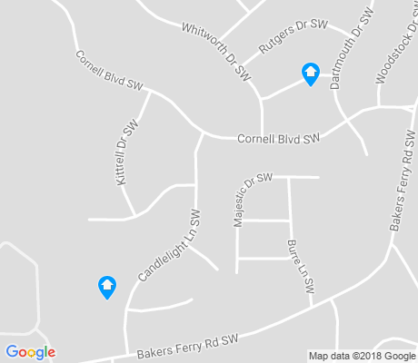 map of Baker Hills apartments for rent