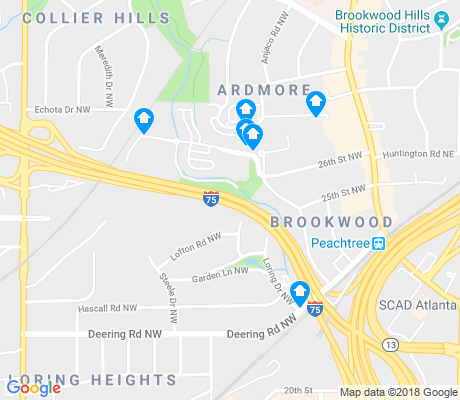 map of Brookwood apartments for rent