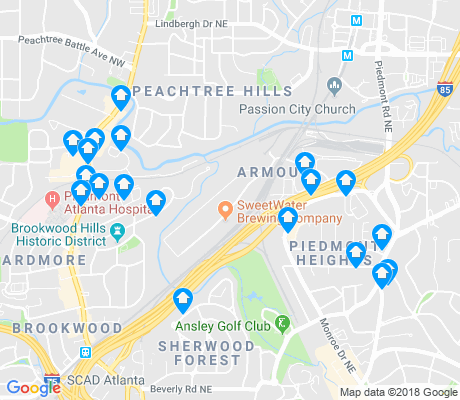 map of Brookwood Hills apartments for rent