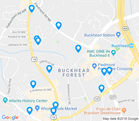 map of Buckhead Forest apartments for rent