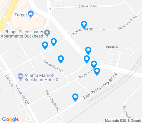 map of Buckhead Heights apartments for rent
