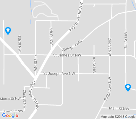 map of Carey Park apartments for rent