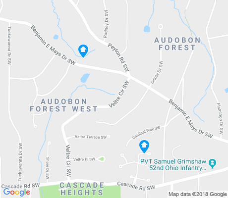 map of Cascade Heights apartments for rent