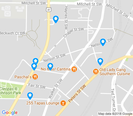 map of Castleberry Hill apartments for rent
