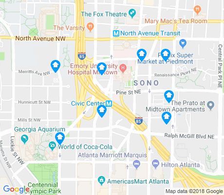 map of Centennial Hill apartments for rent