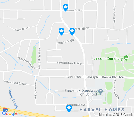 map of Collier Heights apartments for rent