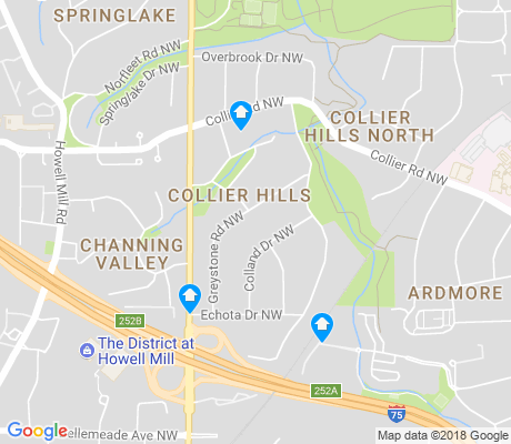 map of Collier Hills apartments for rent