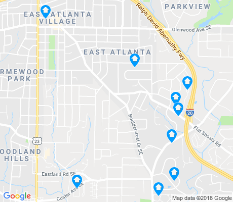map of East Atlanta apartments for rent