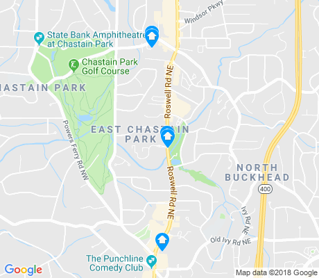 map of East Chastain Park apartments for rent