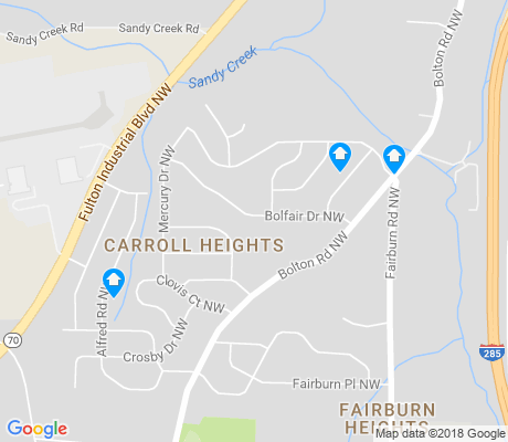 map of Fairburn Heights apartments for rent