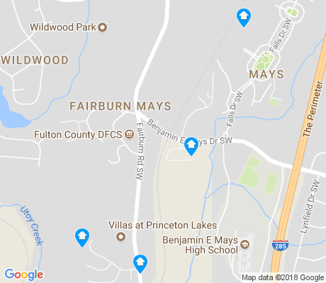 map of Fairburn Mays apartments for rent