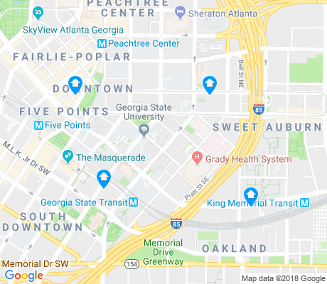 map of Georgia State University apartments for rent