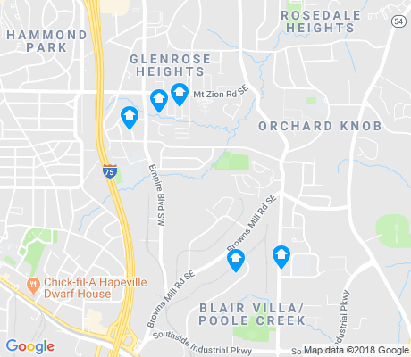 map of Glenrose Heights apartments for rent