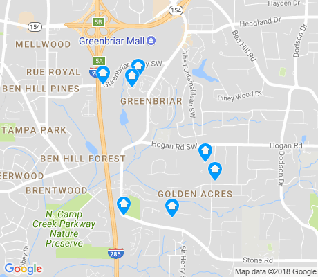 map of Greenbriar apartments for rent